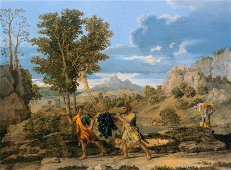 Autumn (The Spies with the Grapes of the Promised Land), 1660 - 1664 - Nicolas Poussin