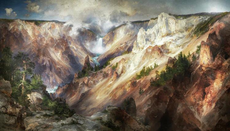 The Grand Canyon of the Yellowstone, 1872 - Thomas Moran