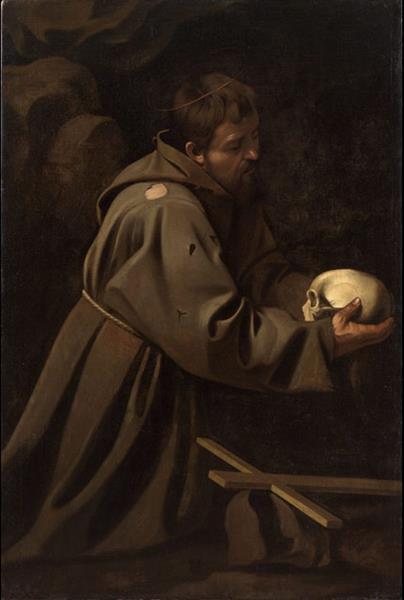 Saint Francis in Prayer, c.1610 - Caravaggio