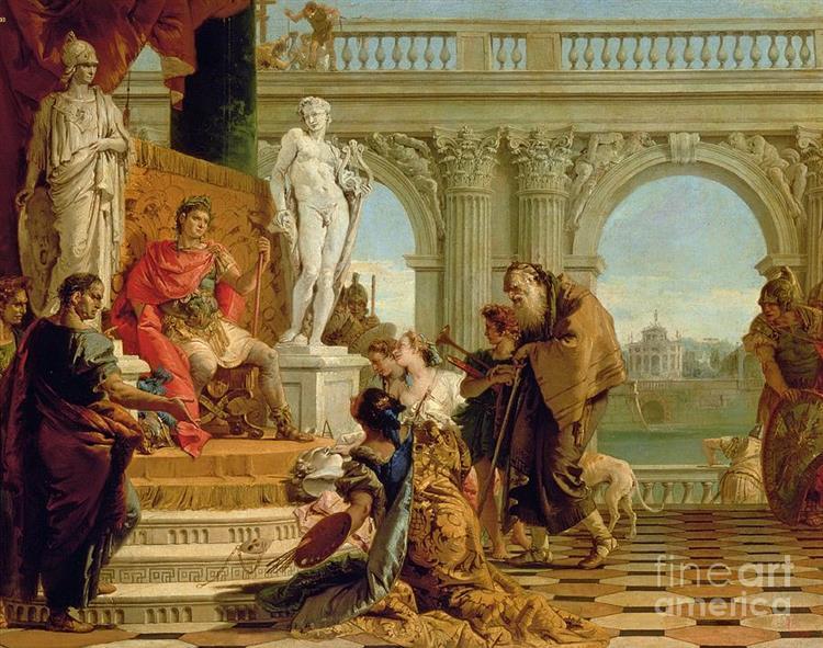 Maecenas Presenting the Liberal Arts to Emperor Augustus, 1743 - Giovanni Battista Tiepolo