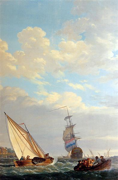 Sailing of the Dordrecht - Abraham van Strij