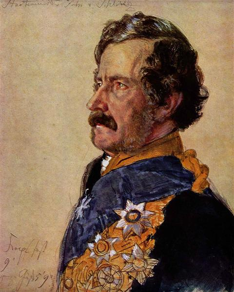 Staatsminister Freiherr von Schleinitz, 1865 - Adolph Menzel