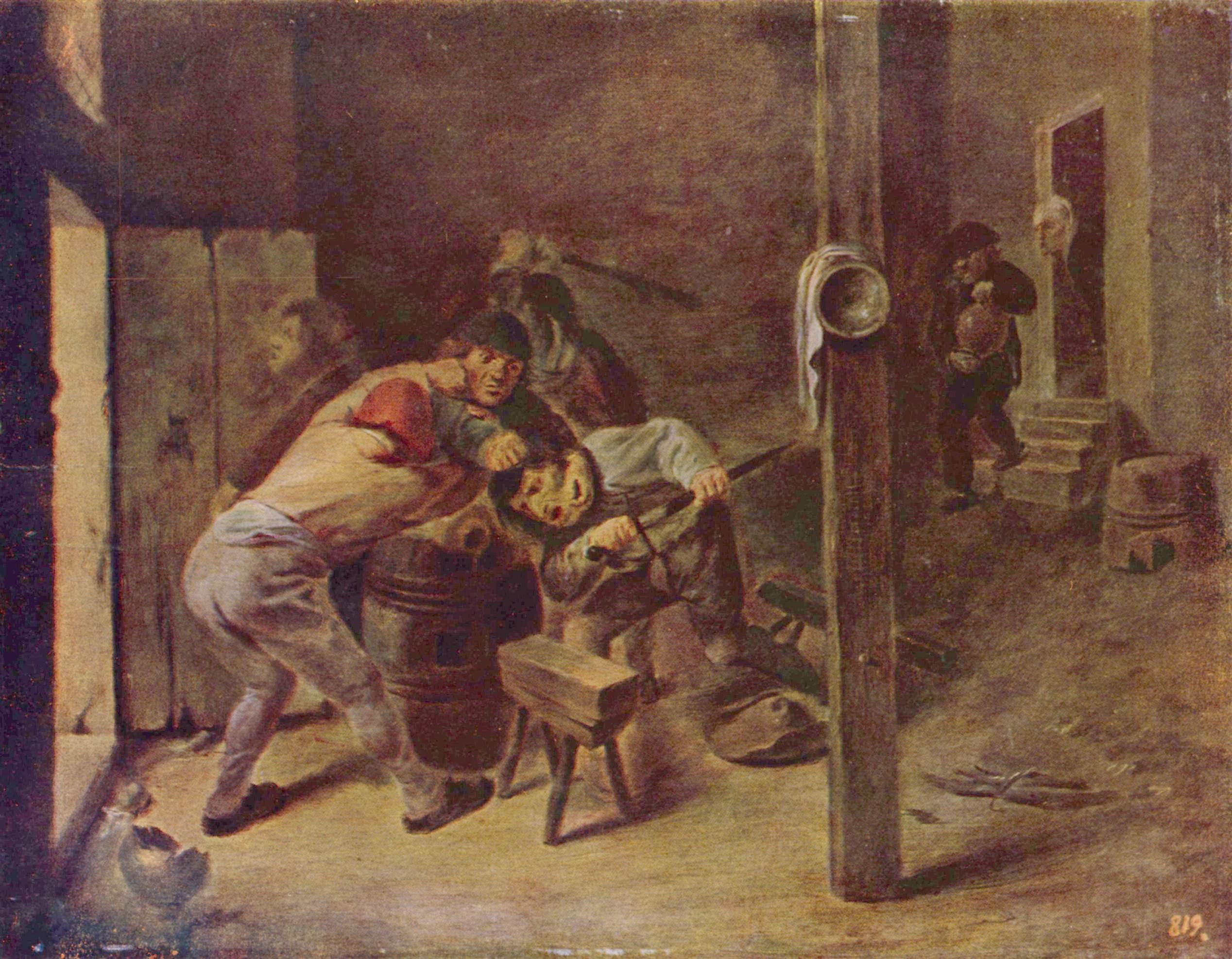 The brawl, 1635