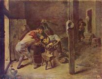 The brawl - Adriaen Brouwer