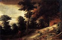 Twilight Landscape - Adriaen Brouwer