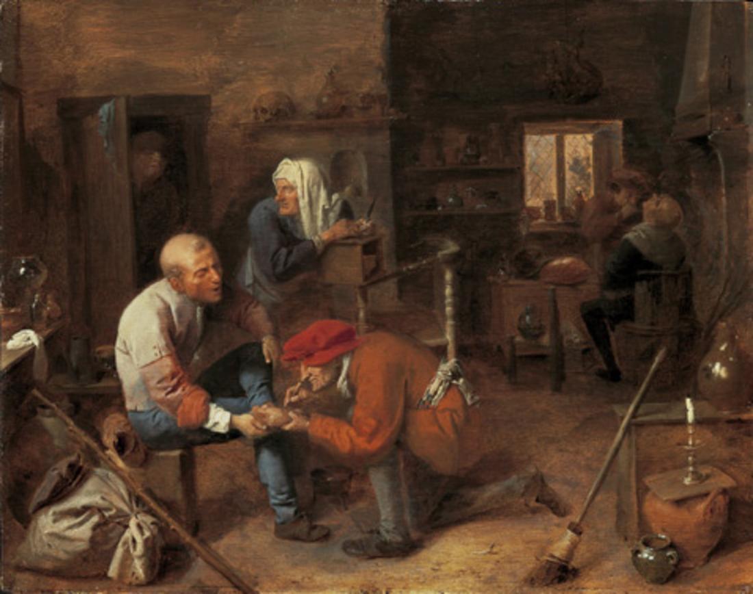 Village barbershop, 1631