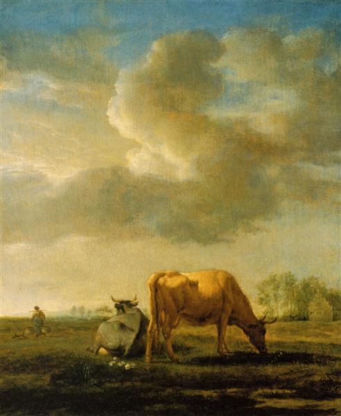 Cows on a Meadow, 1658 - Adriaen van de Velde