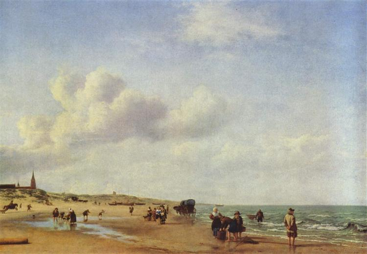 The Beach at Scheveningen, 1658 - Adriaen van de Velde