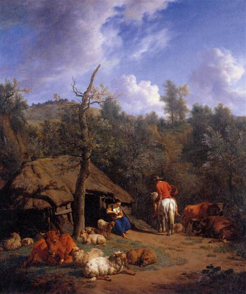 The Hut, 1671 - Адріан ван де Вельде