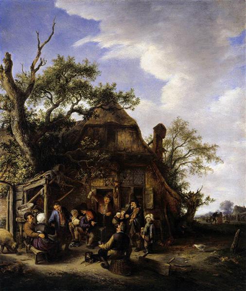 Happy Peasants, c.1645 - Адриан ван Остаде