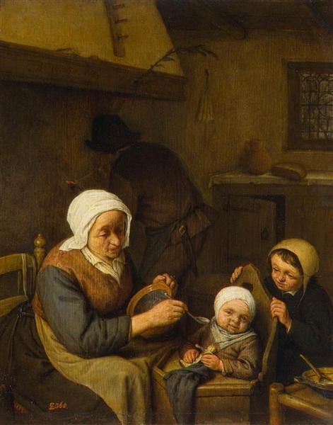 Peasant Family, 1667 - Adriaen van Ostade
