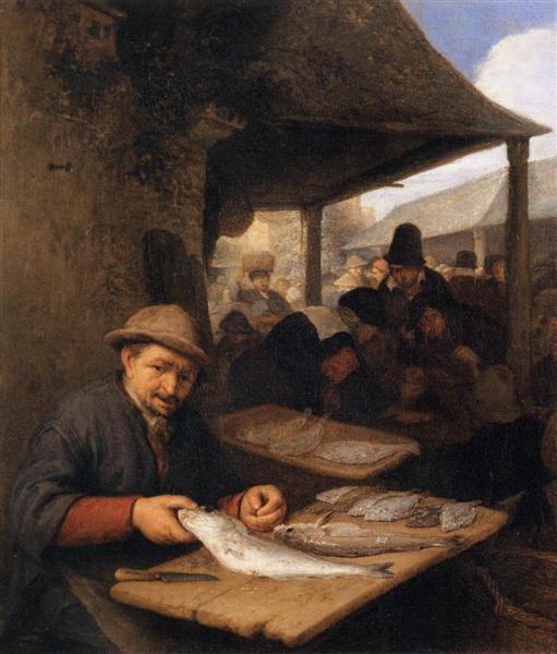 The Fishmarket, 1659 - Адриан ван Остаде