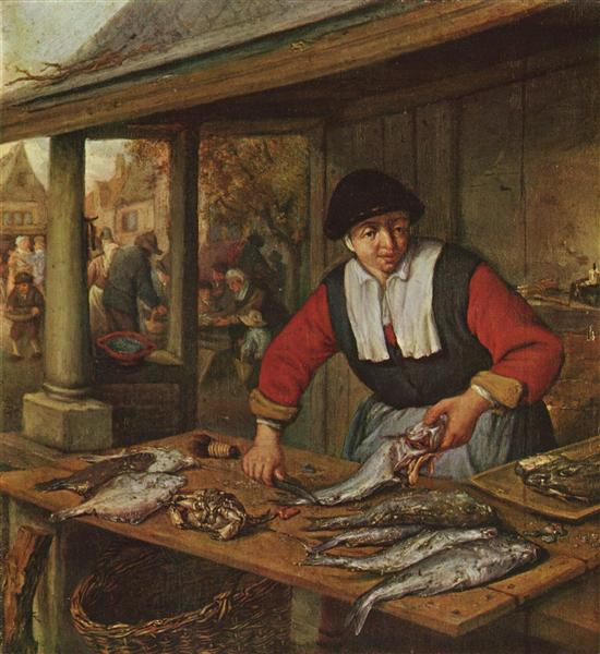 The Fishwife, c.1660 - c.1670 - Адриан ван Остаде
