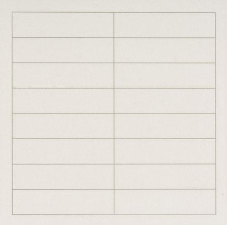 On a clear day, #2, 1973 - Agnes Martin