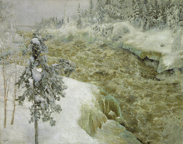 Imatra in Winter, 1893 - Аксели Галлен-Каллела