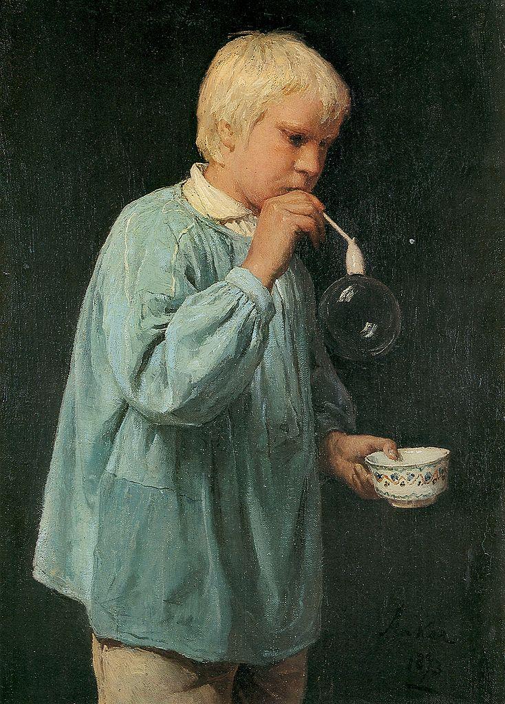 Der Seifenbläser, 1873