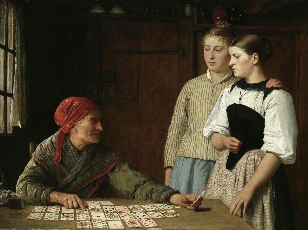 Die Kartenlgerin, 1880