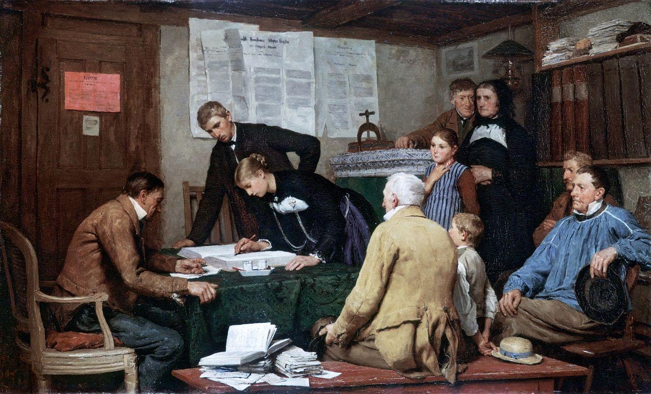 Die Ziviltrauung, 1887