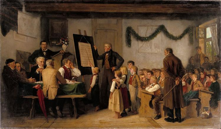 The school exam, 1862 - Albert Anker