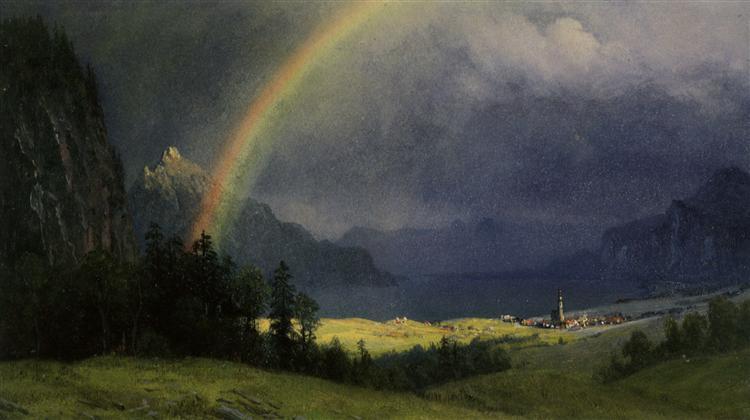After The Shower - Albert Bierstadt