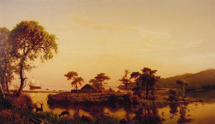 Gosnold at Cuttyhunk, 1858 - Albert Bierstadt