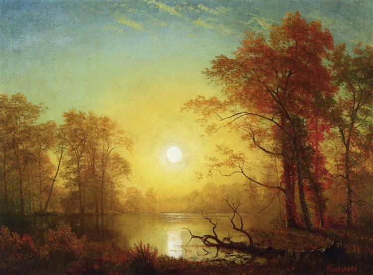 Sunrise - Albert Bierstadt