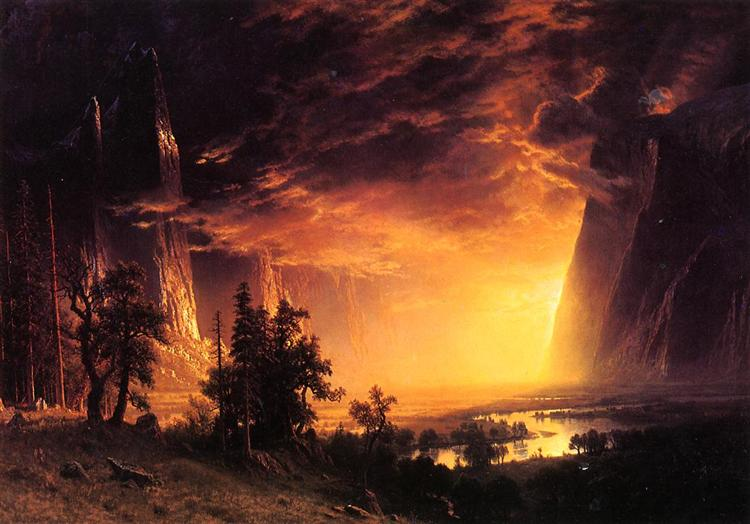 Sunset in the Yosemite Valley, 1869 - Albert Bierstadt