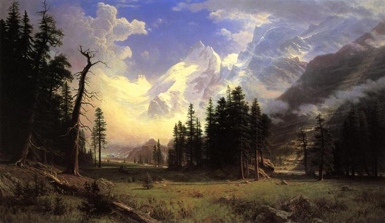 The Morteratsch Glacier, Upper Engadine Valley, Pontresina, 1895 - Albert Bierstadt