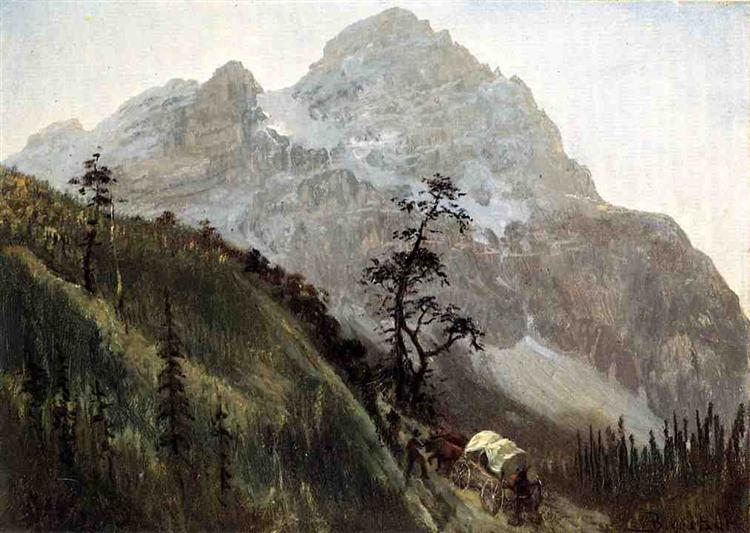 Western Trail, The Rockies - Albert Bierstadt