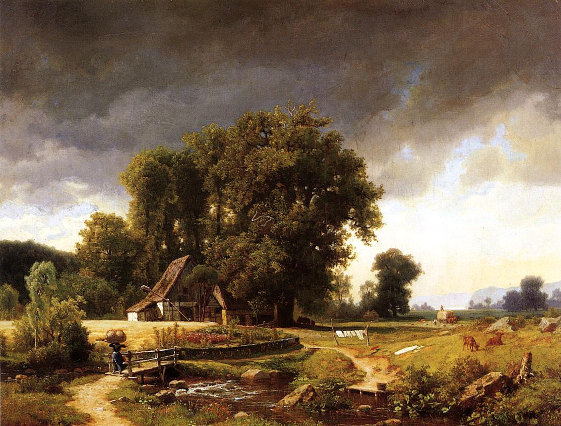 Westphalian landscape albert bierstadt for Landscape images