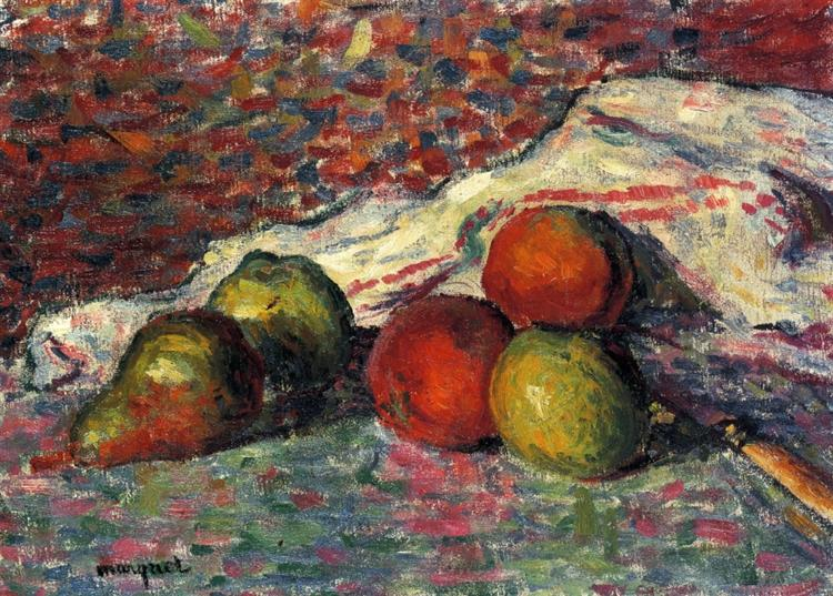 Fruit, Knife and Napkin, 1898 - Альбер Марке