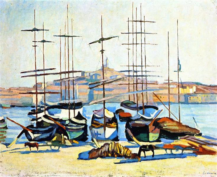 The Port of Marseliles, 1904 - Альбер Марке