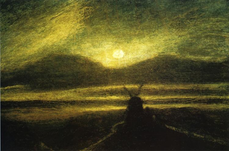 The Old Mill by Moonlight - Albert Pinkham Ryder