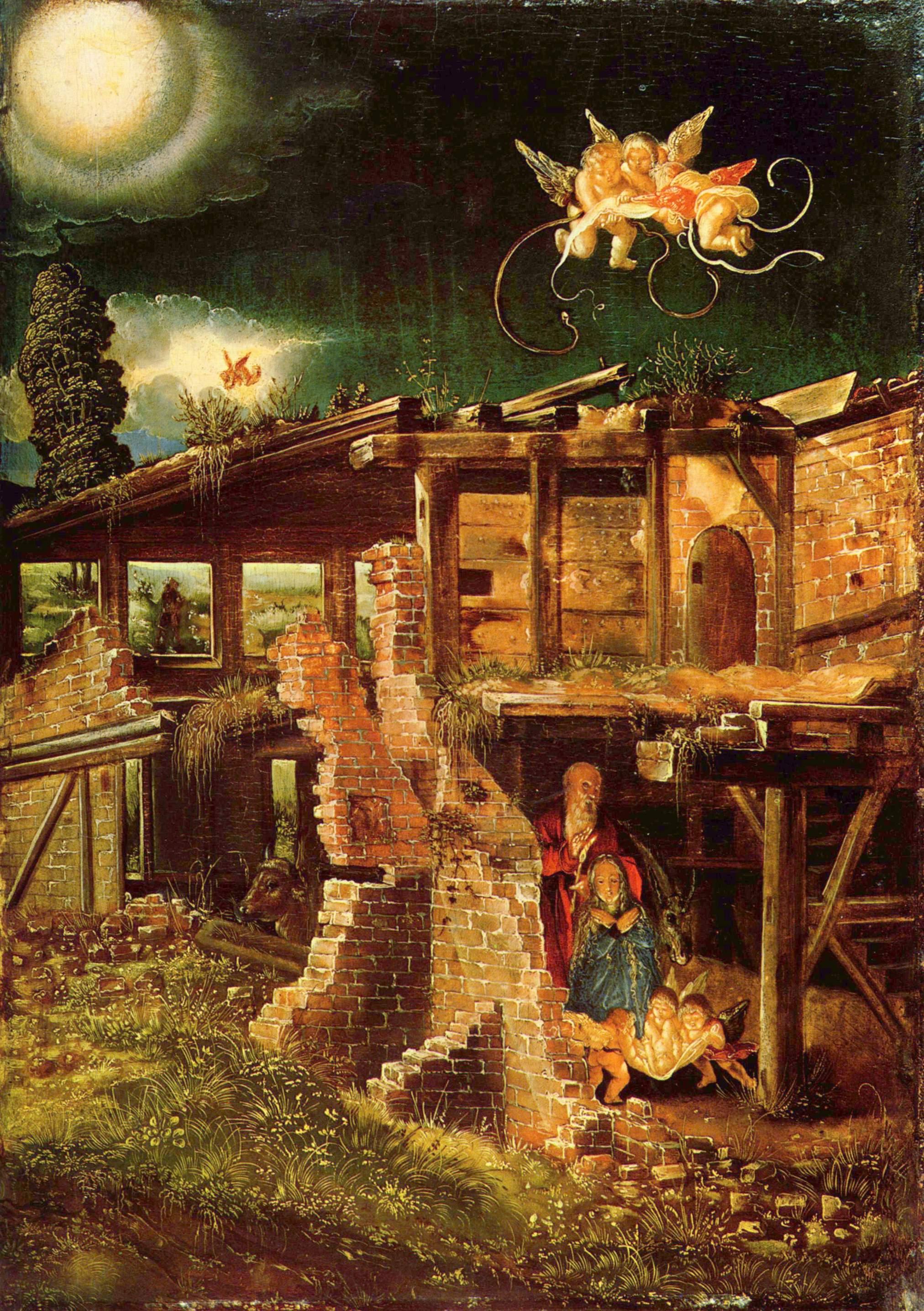 Holy Night (Nativity), 1511 - Albrecht Altdorfer - WikiArt.org