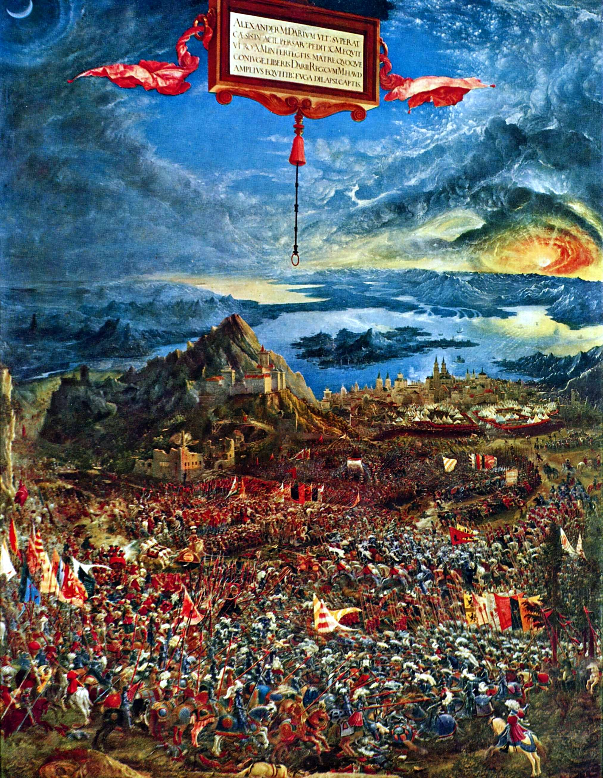 The battle of issus 1529 albrecht altdorfer for Battle of issus painting