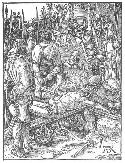 Christ Being Nailed to the Cross, 1511 - Albrecht Durer