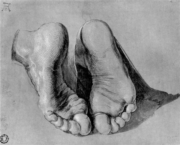 Feet of an apostle - Albrecht Durer