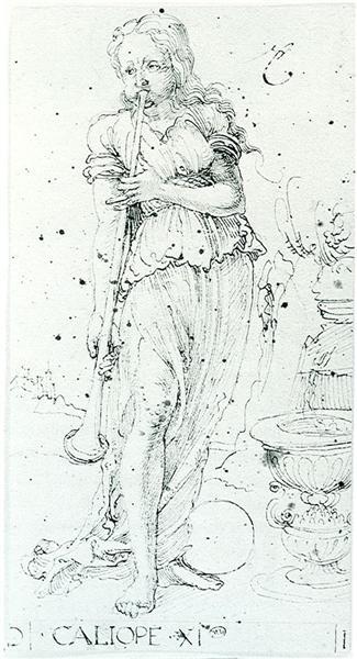 Muse Calliope, 1494 - Albrecht Durer