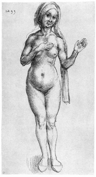 Nude, 1493 - Albrecht Durer