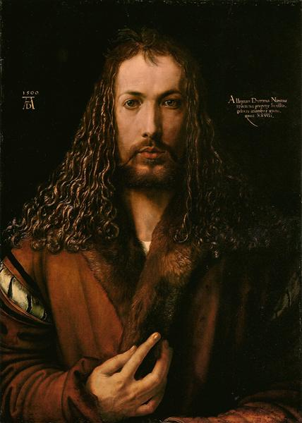 Self-Portrait at the Age of Twenty Eight, 1500 - Albrecht Durer
