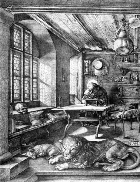 St. Jerome in his Study, 1514 - Albrecht Durer