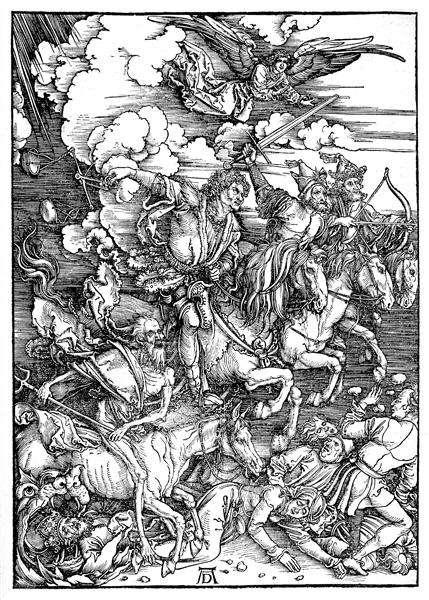The Four Horsemen of the Apocalypse, Death, Famine, Pestilence and War, 1498 - Alberto Durero