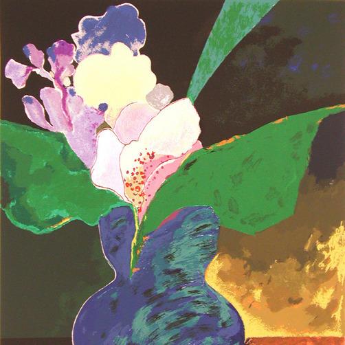 Blue Vase With Flowers, 2002 - Aldemir Martins