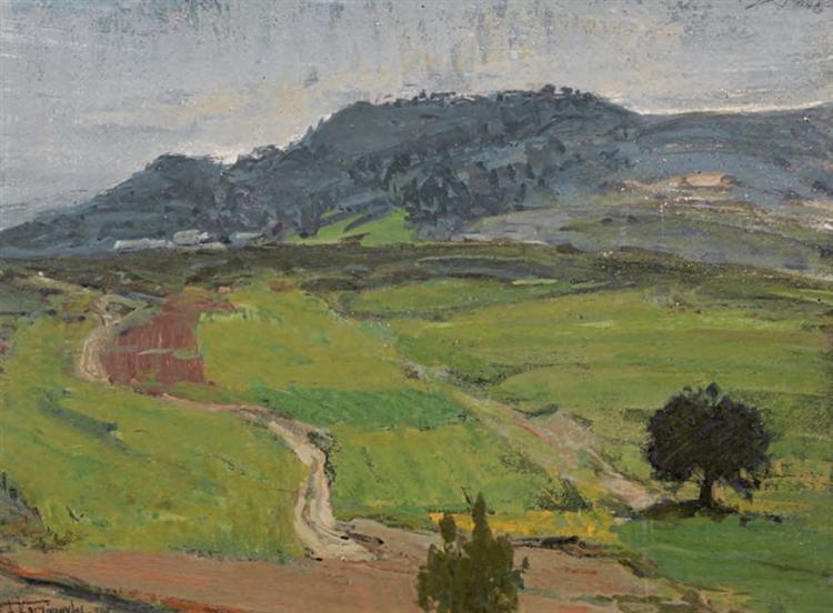 Landscape, 1945 - Alekos Kontopoulos