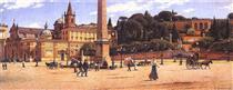Piazza del Popolo w Rzymie - Aleksander Gierymski