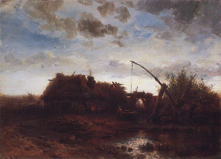 At the well, 1868 - Aleksey Savrasov