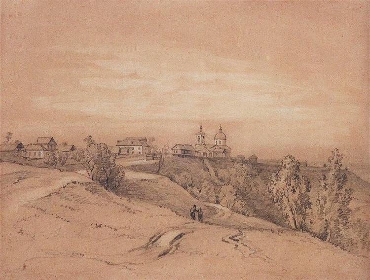 Sparrow Hills near Moscow, c.1840 - c.1850 - Aleksey Savrasov