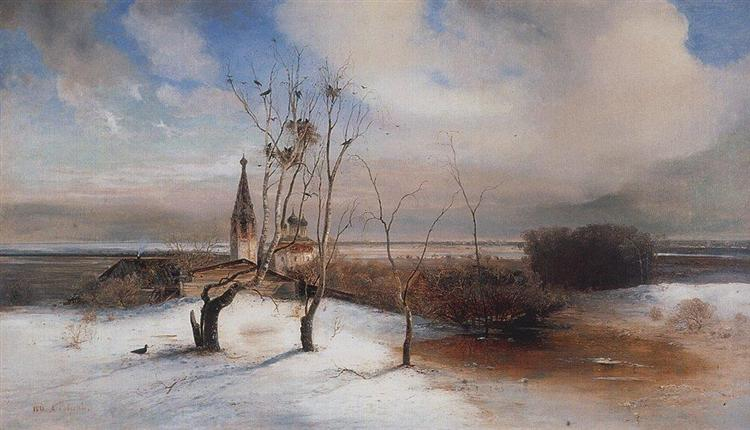 Spring. The Rooks Have Arrived. - Aleksey Savrasov
