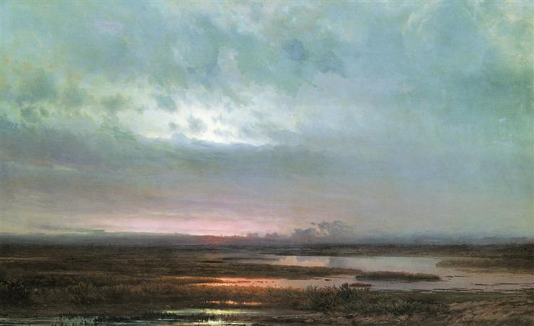 Sundown over a marsh, 1871 - Aleksey Savrasov