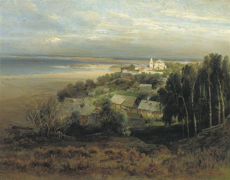 The Monastery of the Caves Near Nizhny Novgorod, 1871 - Aleksey Savrasov
